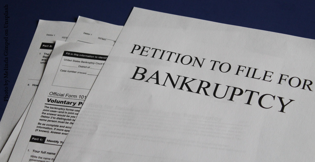 picture of petition for bankruptcy